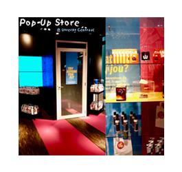 Pop Up Store Condomerie, with Fitting Room. From our Newsletter spring 2019