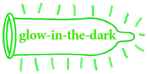 Glow in the dark condooms