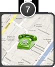 telefoon op landkaart
