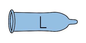 Large condooms (CAS 6-7)